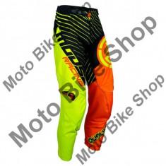 MBS Pantaloni motocross copii Moose Racing Qualifer S18Y, negru/galben/portocaliu, 28, Cod Produs: 29031584PE - Imbracaminte moto