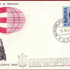 San Marino 1964 - FDC Europa, organizatii, plic prima zi, Organizatii internationale