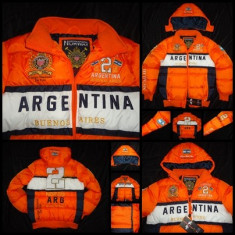 GEACA BARBATI GLUGA DETASABILA ORANGE GEOGRAPHICAL NORWAY ARGENTINA IARNA, Marime: L, Poliester