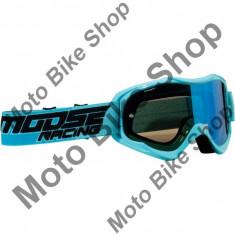 MBS Ochelari motocross Moose Racing Qualifier, albastru, sticla fumurie, Cod Produs: 26012113PE