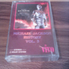 CASETA AUDIO MICHAEL JACKSON-HISTORY VOL 3 RARA!!!! ORIGINALA - Muzica Pop, Casete audio