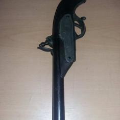 Pistol de epoca original de panoplie,arma antica de colectie,Antichitate,T.GRAt