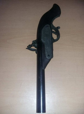 Pistol de epoca original de panoplie,arma antica de colectie,Antichitate,T.GRAt foto