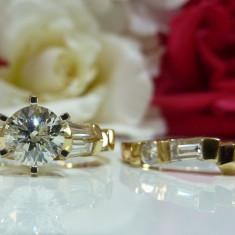 Inel logodna aur 14k si diamante 1.72ct - Inel de logodna