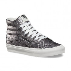 Adidasi Vans Unisex Adults' Sk8 Slim Hi-Top Sneakers marimea 40.5 si 42 - Ghete barbati Vans, Culoare: Gri, Piele naturala