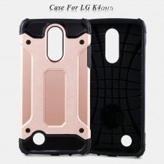 Husa LG K4 2017 - Hybrid Stand Bonus Folie Ecran - Husa Telefon LG, Auriu, Gel TPU