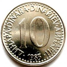 IUGUSLAVIA, 10 DINARI 1983, Europa, Crom