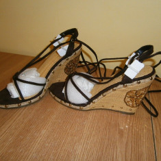 Sandale casual dama cu platforma, mar 36, stare foarte buna! - Sandale dama, Culoare: Din imagine