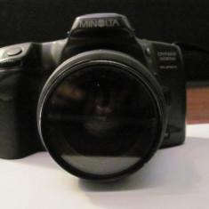 """PVM - Aparat foto film """"MINOLTA Dynax 500 si"""" fabricat Malaezia obiectiv Japonia"""
