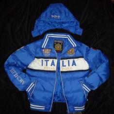 GEACA BARBATI GLUGA DETASABILA ALBASTRA GEOGRAPHICAL NORWAY ITALIA IARNA TOAMNA, Marime: XL, Culoare: Albastru, Albastru, Poliester