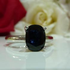 Inel platina cu safir 2.22ct cetificat GLS