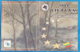SET UNC LITUANIA - PROBE EURO 2004, DE LA 1 CENT LA 2 EURO