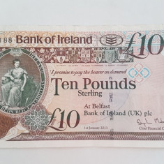 IRLANDA DE NORD 10 LIRE 2013 BANK OF IRELAND - bancnota europa