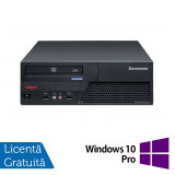 Calculator LENOVO ThinkCentre M58p SFF, Intel Core 2 Duo E8400 3.0 GHz, 4 GB DDR3, 250GB SATA, DVD-RW + Windows 10 Pro