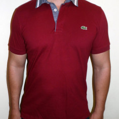 Tricouri LACOSTE - Albastru / Visiniu - Noua Colectie !!! - Tricou barbati, Marime: L, XL, Maneca scurta, Bumbac