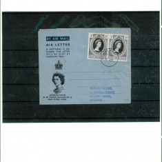 Aerograma - St.HELENA -Stampila 2 iunie 1953 - ZIUA INCORONARII H.M. ELIZABETH