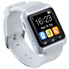 Ceas Inteligent Bluetooth Android/iPhone (alb) Smart Watch Many Functions, Alte materiale, Android Wear, Apple Watch Series 2