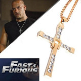 Colier, pandativ, lantisor, The fast and the Furious, Vin Diesel, auriu - Lantisor fashion