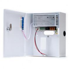 Sursa de alimentare in comutatie Mtx cu cutie metalica, LED, tensiune iesire ajustabila 12-14Vcc, curent de iesire 5A, cu back-up