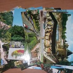 Carte Postala, vedere, Lot vederi Ceausiste, carti postale circulate, timbrate, vechi, Printata, Romania de la 1950