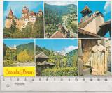 bnk cp Castelul Bran - Vedere - circulata - marca fixa