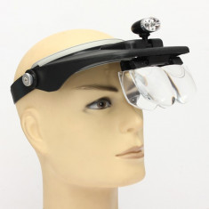 Ochelari lupa ochelari led marire lentile 1.2X 1.8X 2.5X 3.5X lupa led reparatii