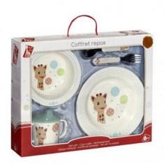 Set pentru masa melamina Girafa Sophie Baloane cutie cadou - Vulli