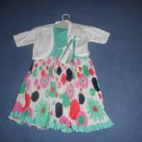Set rochie si bolero, NOU, 2-3 ani, Made in Turkey, copii, Marime: Masura unica, Culoare: Multicolor
