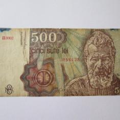 Romania 500 Lei ianuarie 1991 - Bancnota romaneasca