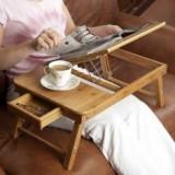 Masuta Masa Suport Laptop Notebook Pliabila Lemn Bambus E-table Reglabila