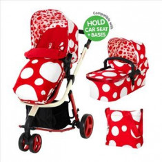 Carucior sistem 2 in 1 Giggle Red Bubbles - Cosatto - Carucior copii 2 in 1