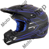 MBS Casca motocross AFX FX-17 Mainline, negru/albastru, M, Cod Produs: 01105003PE
