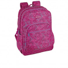 Ghiozdan Style roz, adolescente, 2 compartimente, 44 cm, Gabol, Fata