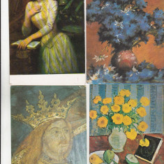 Bnk cp - Lot 16 carti postale - picturi
