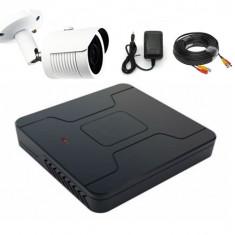 Kit 1 camera supraveghere exterior complet AHD 1200 lini - Kit supraveghere, Numar camere: 1