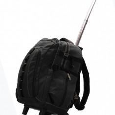 Rucsac troller negru - Ghiozdan cu roti de scoala / Rucsac unisex / voiaj
