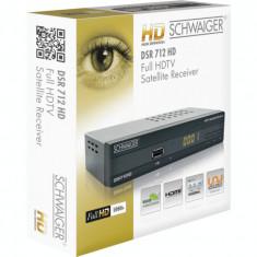Receiver satelit DVB-S2 Full HD Schwaiger DSR-712HD, este NOU la cutie