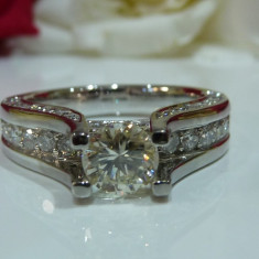 Inel logodna aur 14k si diamante 1.87ct - Inel de logodna