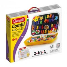 Joc Creativ Abc+123 Quercetti Forme Magnetice - Jocuri arta si creatie