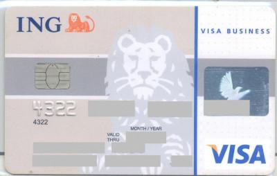 card bancar Visa ING foto
