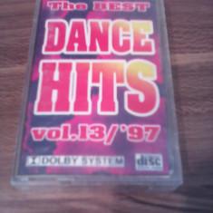 CASETA AUDIO THE BEST DANCE HITS 13/97