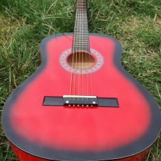 Chitara rosie clasica de lemn - Chitara acustica