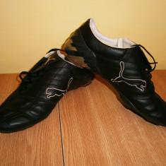 Adidasi fotbal barbati PUMA, marimea 41, piele! - Ghete fotbal Puma, Culoare: Negru