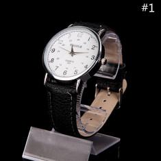 Ceas barbati - marca YAZOLE - carcasa argintie cadran alb - Ceas barbatesc, Elegant, Quartz
