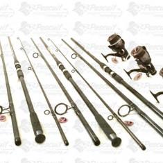 Set 4 Lansete Crap 3, 6m Cu 4 Mulin MIFINE 6000 8 Rulm. Baitrunner Fir Inclus - Set pescuit