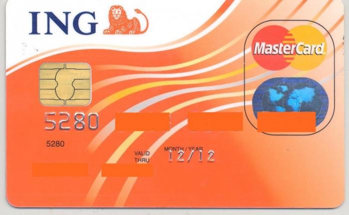 card bancar Mastercard ING foto mare