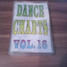 CASETA AUDIO DANCE CHARTS VOL.16 RARITATE!!! ORIGINALA