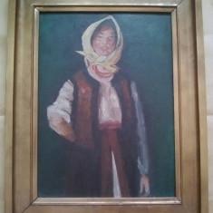Țărancă voioasă reproducere dupa Nicolae Grigorescu, Portrete, Ulei, Realism