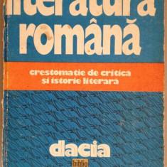 Literatura romana. Crestomatie de critica si istorie literara - Studiu literar