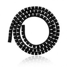 Cable organizer 4World Smart Snake Black 1.5m - Cablu PC